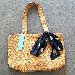 BRAND NEW! Draper James Everyday Straw Bag